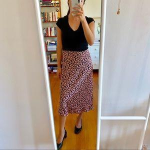 Brand new w tags, Azalea bias-cut satin skirt 💖